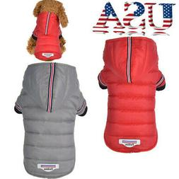 Winter Waterproof Pet Dog Cat Hooded Jacket Jumpsuit Clothes
