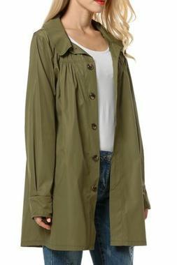Beyove Womans Long Sleeve Lightweight Outdoor Raincoat W/ Ho