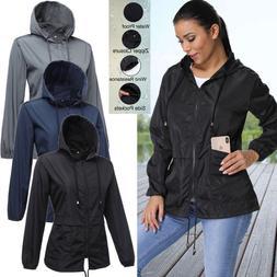 Women Girl Raincoat Outdoor Waterproof Jacket Hooded Rainwea