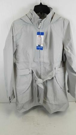 Eddie Bauer Women Grey Rain Coat Size Large
