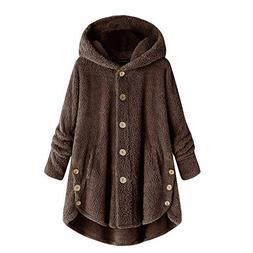 Women Jacket Winter Plus Size Women's Fashion Women Button C