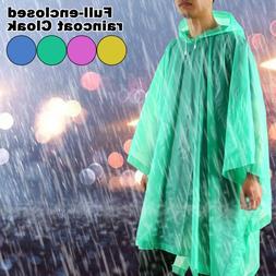Women Men Raincoat EVA Poncho Outdoor Waterproof Long Rain C