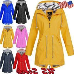 Women Outdoor Jacket Waterproof Wind Jacket Solid Color Fore