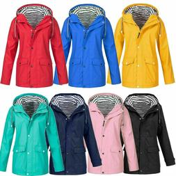 women rain jacket autumn outdoor waterproof hooded