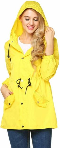 UNibelle Women Raincoat Lightweight Hooded Rain Jacket Outdo