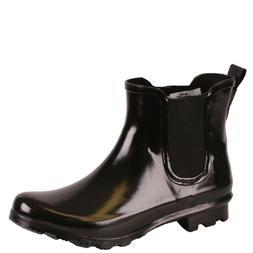 Women's WESTERN CHIEF 2120680P BLACK Rain Boots Shoes