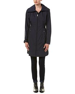 "Cole Haan Women's 36"" Single Breasted Rain Jacket with Packa"