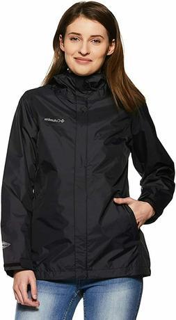 Columbia Women's Arcadia II Rain Jacket, Black, Large
