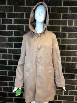 Kate Spade New York Women's Camel Rain Coat Size L