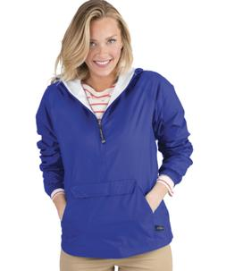 women s front pocket classic pullover royal