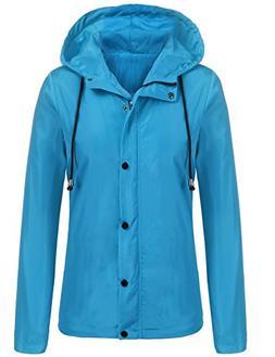 Beyove Women's Hiking Waterproof Hooded Acitive Outdoor Rain