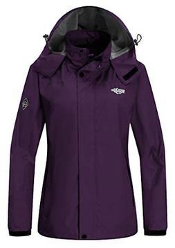 Wantdo Women's Hooded Outerwear Hiking Wind Shell Jacket Rai