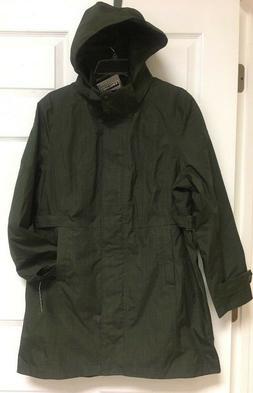 Kirkland Signature, Women's Hooded Trench/Raincoat, Large, O