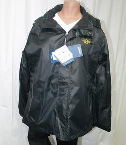 Wantdo Women's Hooded Windproof Rain Jacket Black Outerwear