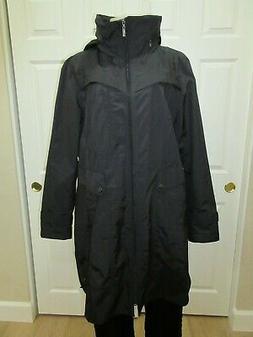 Women's Cole Haan Black Label Jacket Hooded Rain Coat Windbr