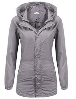 Beyove Women's Lightweight Packable Outdoor Coat Windproof H