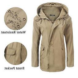 ELESOL Women's Lightweight Waterproof Hooded Raincoat Active