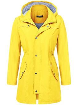 SoTeer Women's Lightweight Waterproof Raincoat with Hood Lon