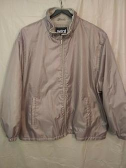 Women's  TOTES Tan Poly Lightweight Zipper Rain Jacket Sz-3X