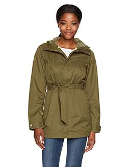Columbia Women's Pardon My Trench Rain Jacket, Nori, X-Small