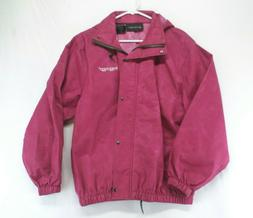 Women's Frogg Toggs Pink Hooded Rain Coat Size L