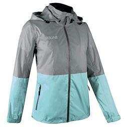 Baleaf Women's Rain Jacket Waterproof Raincoat Outdoor Windb