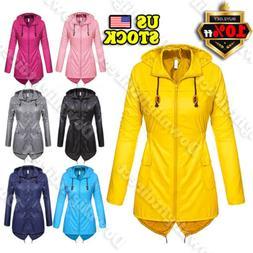 Women's Raincoat Outdoor Trench Waterproof Wind Forest Jacke