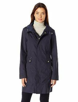 Cole Haan Women's Single Breasted Packable Rain Jacket with