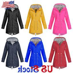 Women's Solid Forest Jacket Raincoat Wind Jacket Outdoor Wat