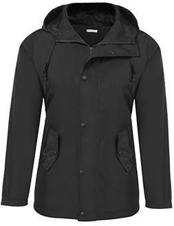 Meaneor Women's Sportswear Waterproof Jacket Outdoor Raincoa