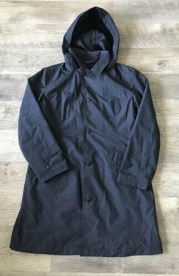 COLUMBIA Women's TRENCH RAIN COAT JACKET Black Size L