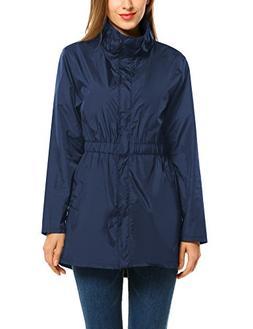 ANGVNS Women's Waterproof & Windproof Rain Jacket Poncho Rai
