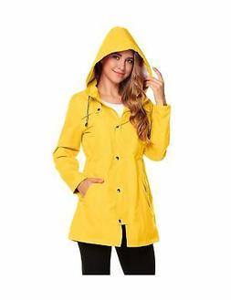 women s waterproof rain jacket hooded raincoat