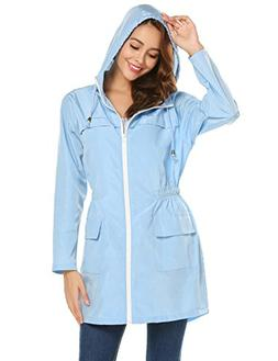 LOMON Women Waterproof Lightweight Rain Jacket Active Outdoo