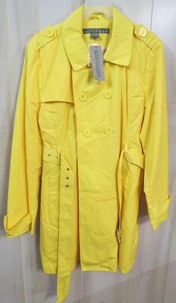 Women XXL Kennith Cole Reaction Rain Coat Yellow NWT