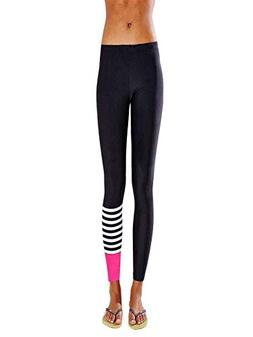 Women Yoga Running Pants Dance Cropped Leggings High Waist S