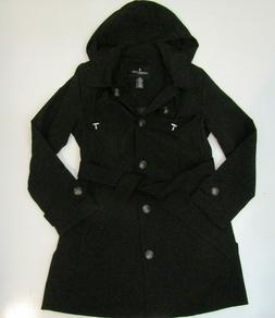 LONDON FOG Womens Black Jacket Trench Coat NWT Size L Large