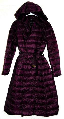 MISSFOFO WOMENS DOWN COAT POLYESTER QUILTED TRENCH COATLONG