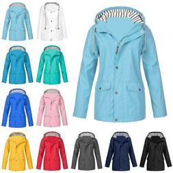 Womens Jacket Coat Ladies Hoodie Windbreaker Long Sleeve Jum
