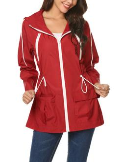 rain jacket women waterproof with hood lightweight