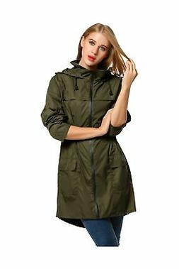 HOTOUCH Womens Lightweight Hooded Raincoat Active Outdoor Wa