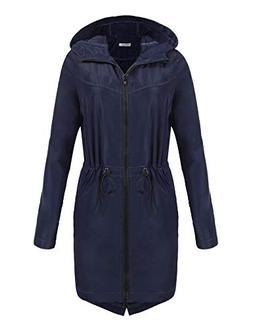 UNibelle Womens Lightweight Raincoat Hooded Active Outdoor R