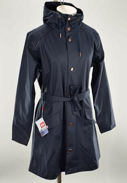 HELLY HANSEN Womens Navy KIRKWALL II Windproof Hooded Rainco