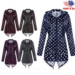womens polka dot raincover raincoat rain waterproof