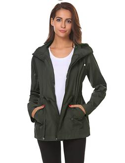 womens rain coat with hood waterproof lightweight