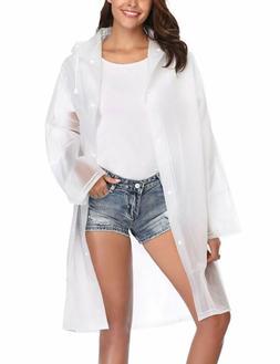 ZHENWEI Womens' Rain Coats Rain Jacket EVA Portable Thicken