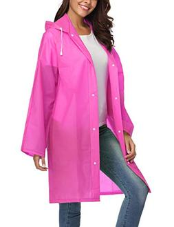 ZHENWEI Womens' Rain Coats Waterproof Portable Lightweight R