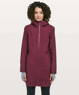 Lululemon Women's Rain Rebel Jacket Coat DRBY Deep Ruby NE