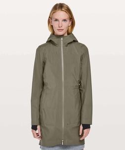 Lululemon Women's Rain Rules Jacket Coat SAGE