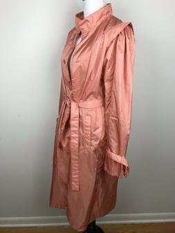 Totes Womens Raincoat Lightweight Coat Sz 14P Shimmer Coral